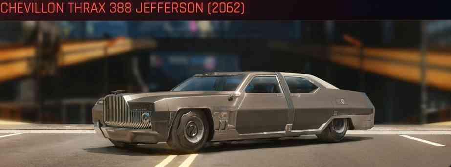 Cyberpunk 2077 Vehicle Guide cyberpunk 2077 chevillon thrax 388 jefferson 2062