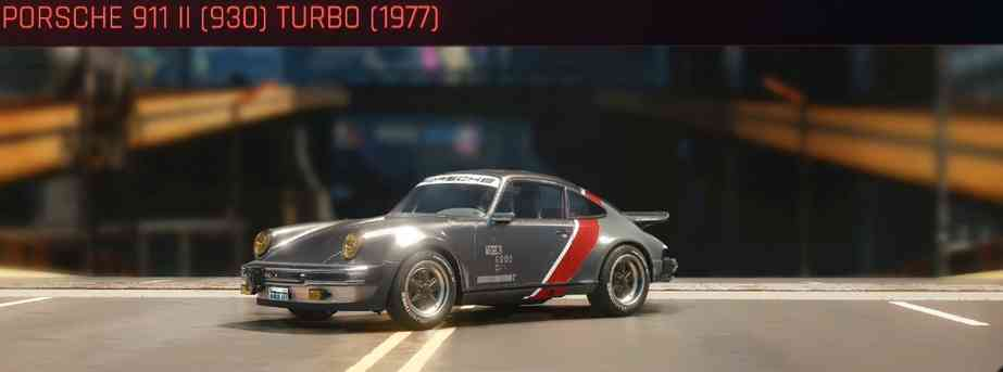 Cyberpunk 2077 Vehicle Guide cyberpunk 2077 porsche 911 ii 930 turbo 1977
