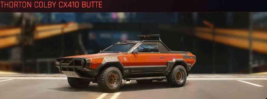 Cyberpunk 2077 Vehicle Guide cyberpunk 2077 thorton colby cx410 butte