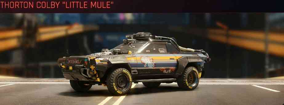 Cyberpunk 2077 Vehicle Guide cyberpunk 2077 thorton colby little mule