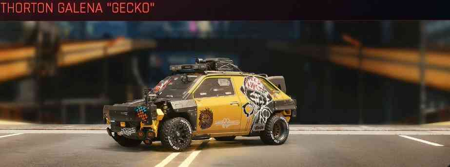 Cyberpunk 2077 Vehicle Guide cyberpunk 2077 thorton galena gecko