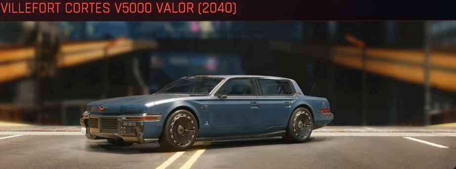 Cyberpunk 2077 Vehicle Guide cyberpunk 2077 villefort cortes v5000 valor 2040