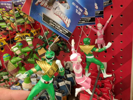 Mighty Morphin Christmas Ornaments Released