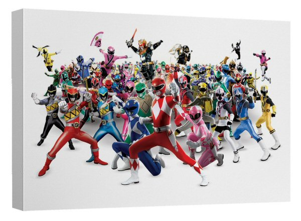 Power Rangers 25th Anniversary Wall Art Released