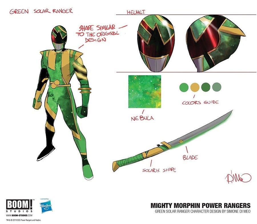 BOOM! Studios Reveals New Solar Ranger Designs - Power Rangers NOW