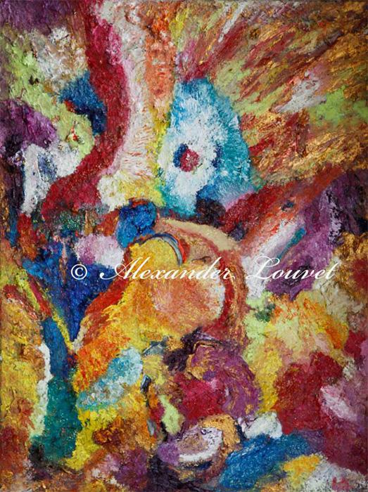 "Painting ""CALLA"" Oil 80X60"