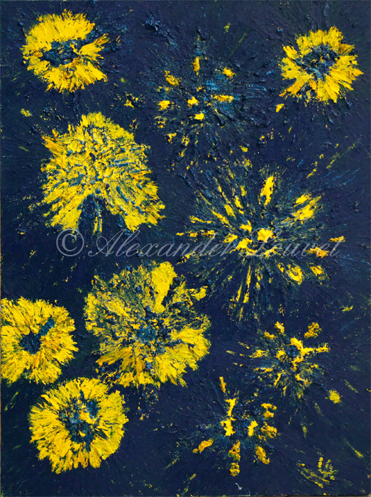 "Painting ""EUROPE SKY"" Oil 80X60"