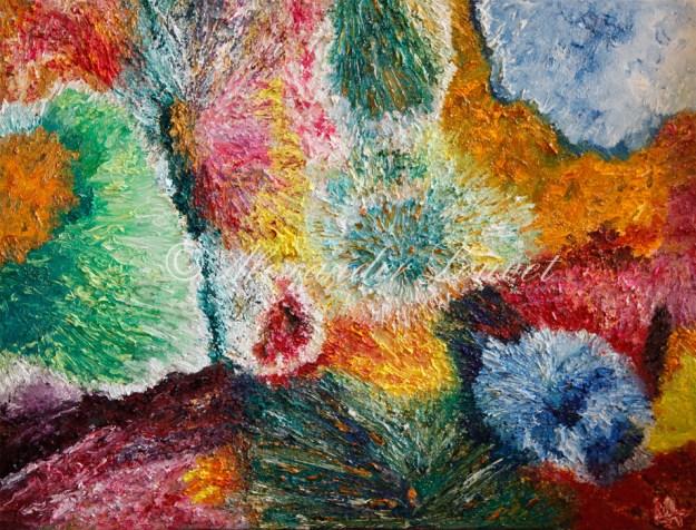 "Painting ""LILIA"" Oil 80X60"