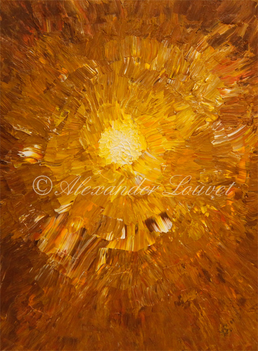 "Painting ""THE LIGHT"" Acrylic 80X60"