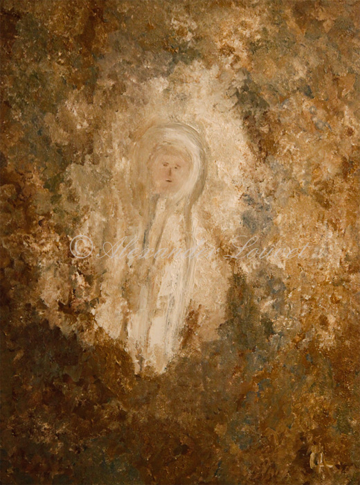 """Painting """"JESUS"""" Acrylic-Oil 80X60"""