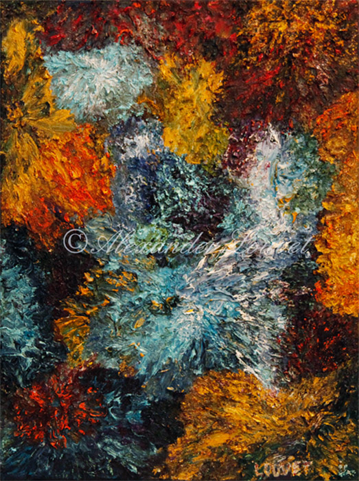 """Painting """"DIVE"""" Oil 80X60"""