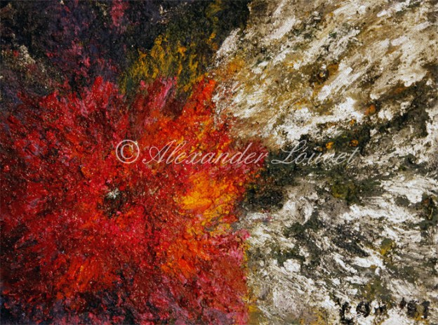 """Painting """"Red Ice"""" 40x30"""
