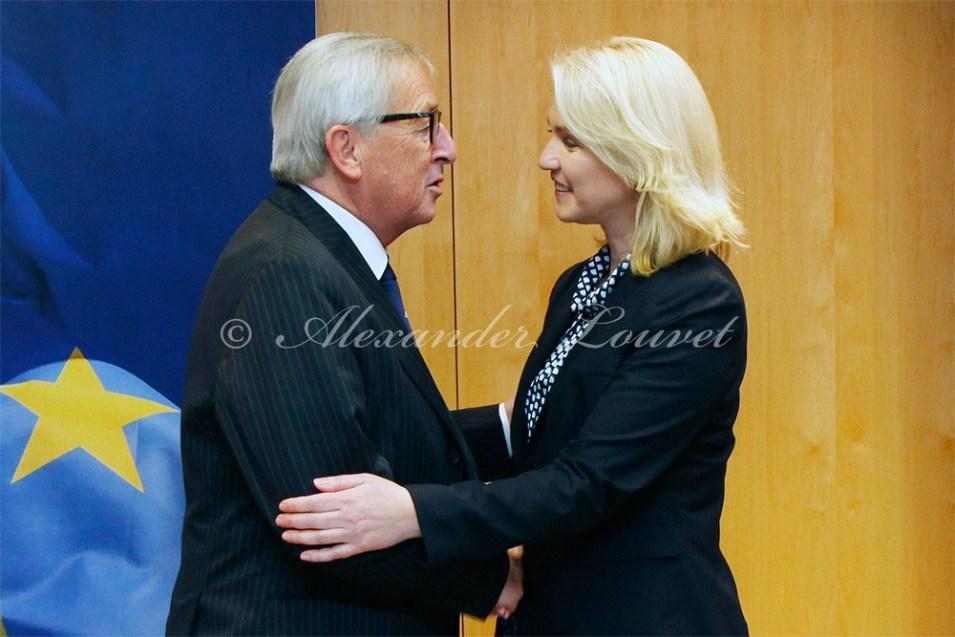 Ministerpresidentin Manuela Schwesig meets President Jean-Claude Juncker