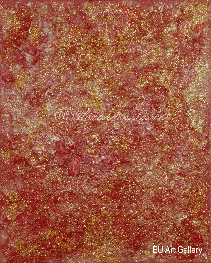 "Painting ""Christmas Fly"" - 24X30 - Acrylic-Oil"