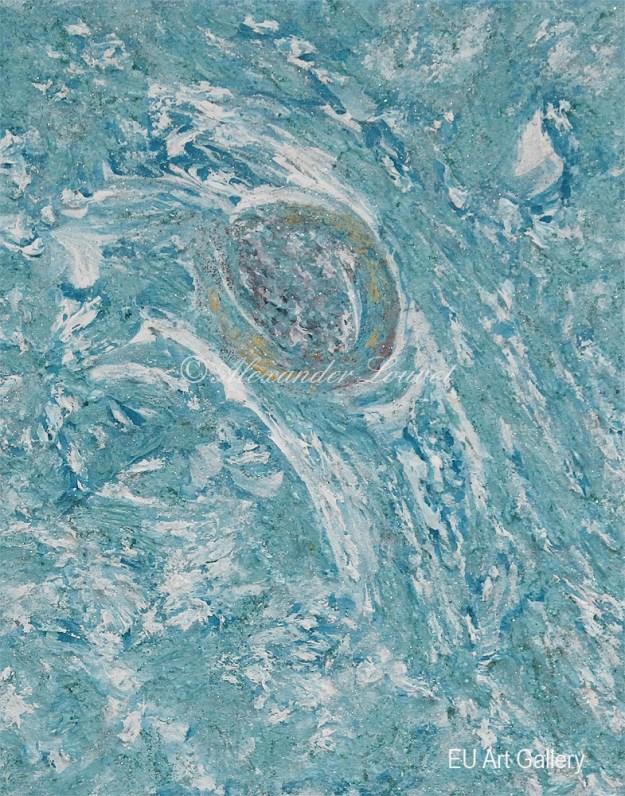 """Painting """"Ice Sun"""" - 30X24 - Acrylic-Oil"""