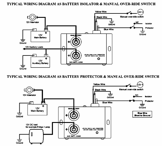 noco battery isolator wiring diagram   36 wiring diagram