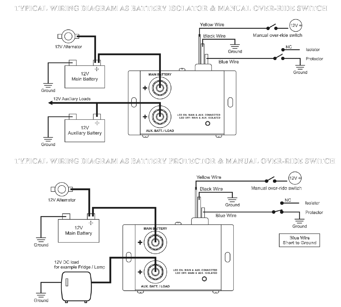 Diode Battery Isolator Schematic