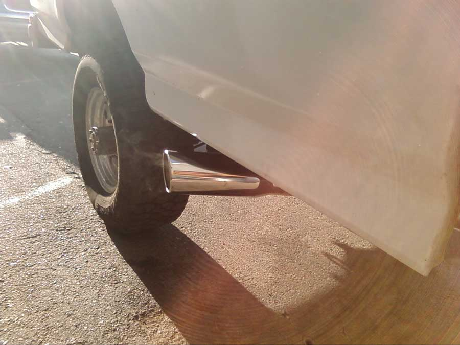 turndown dumped exhaust ford