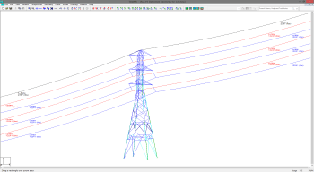 TOWER Displaying Wires from PLS-CADD