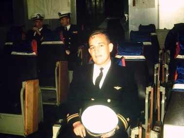 04-1962 USS Midway, Squadron Ready Room LTJG Mike Hoff