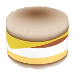 Egg Muffin Sandwich Pouf