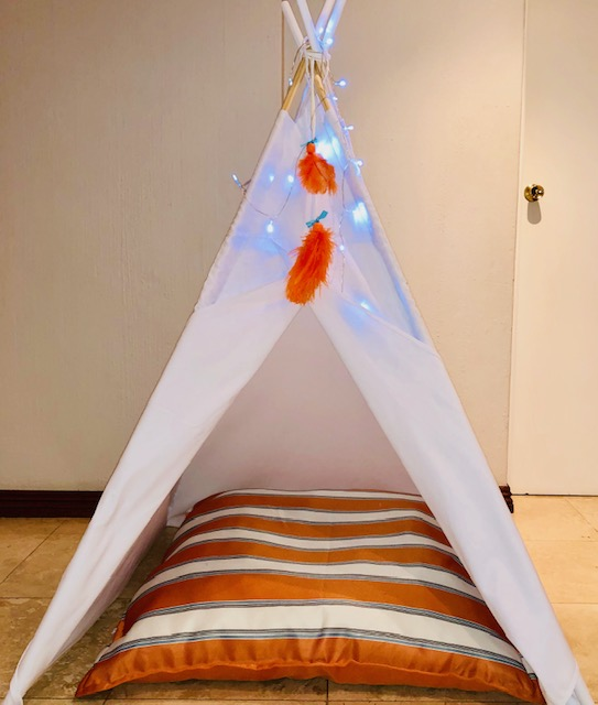 Massive cushions for teepees and play tents