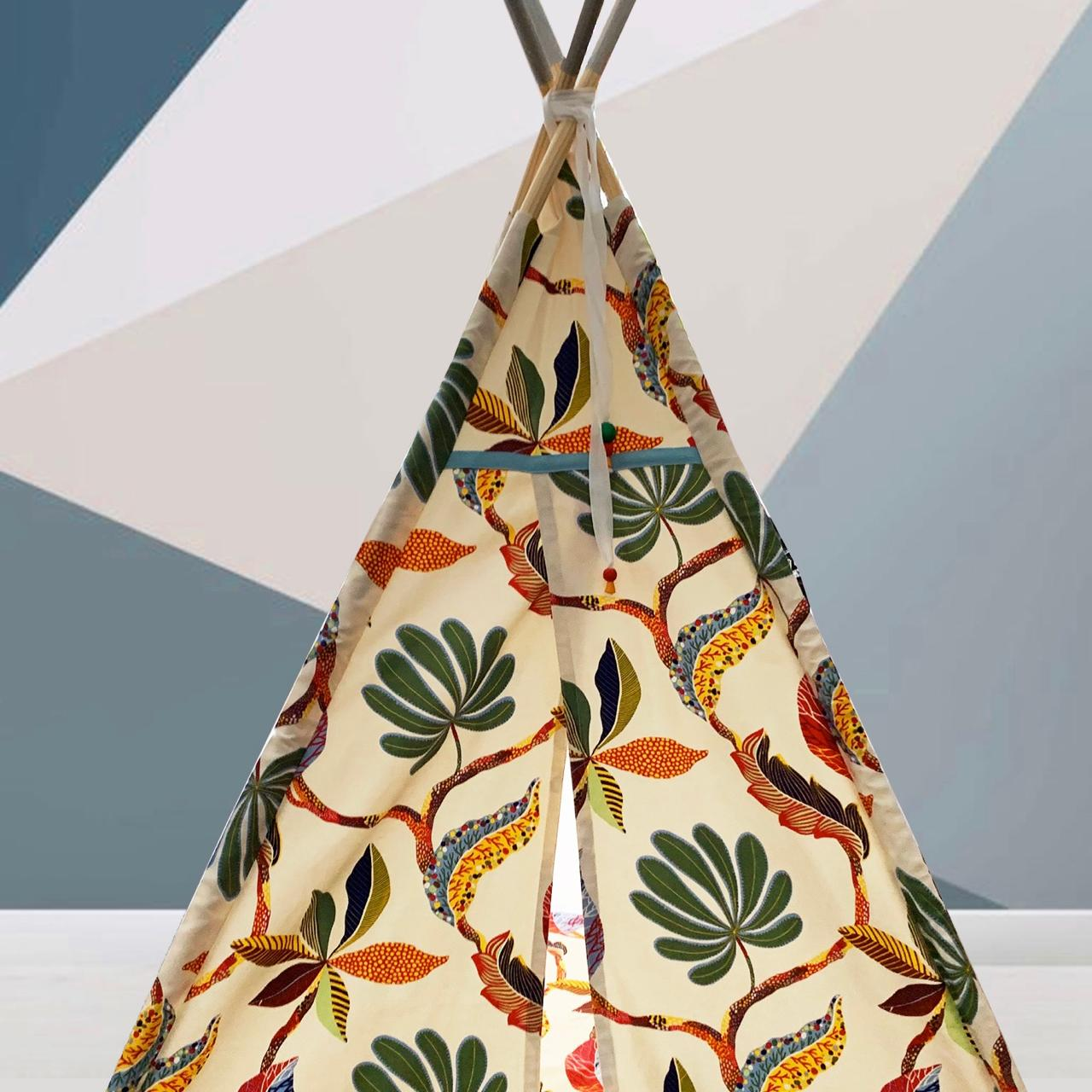 Jungle motif teepee for sale