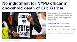 Here's how news homepages showed the no indictment ruling in Eric Garner's death