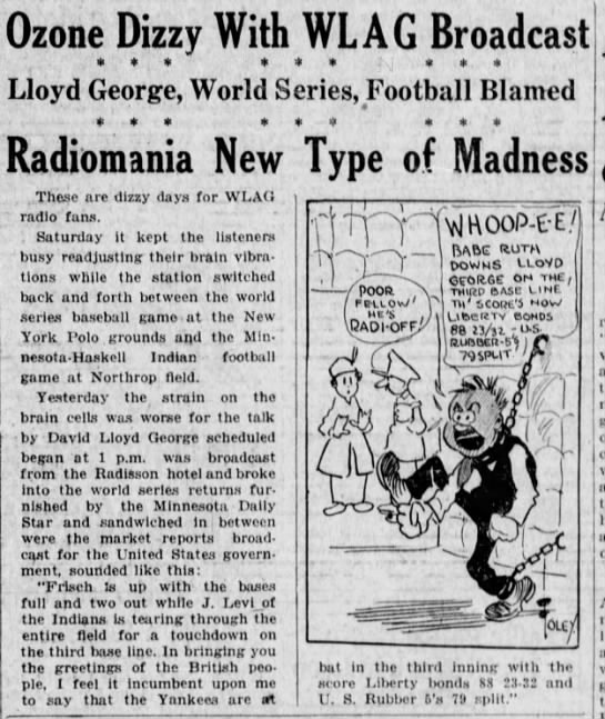 From the Minneapolis Star, Oct. 16, 1923.
