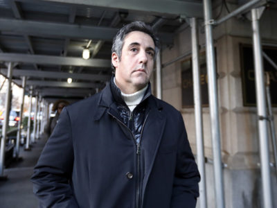 In this December 2018 file photo, Michael Cohen, former lawyer to President Donald Trump, leaves his apartment building in New York. A report by BuzzFeed News, citing two unnamed law enforcement officials, says that Trump directed Cohen to lie to Congress and that Cohen regularly briefed Trump on the project. (AP Photo/Richard Drew, File)