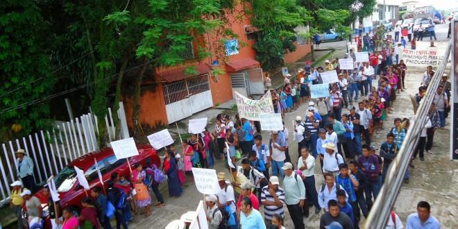 Palenque Chiapas: Marcha y comunicado en defensa de la madre tierra y el territorio