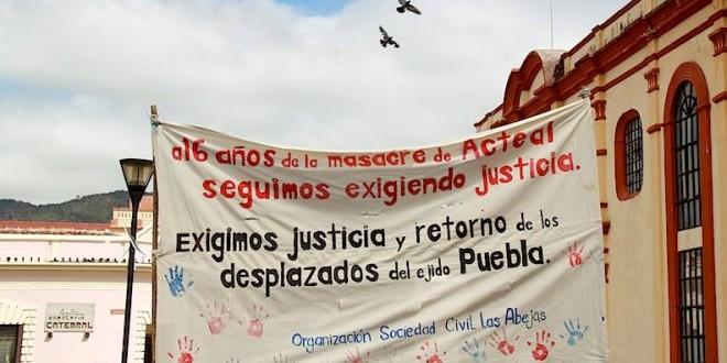 Acteal Chiapas: A 16 años y dos meses de la matanza de indígenas en el municipio de Chenalhó, la impunidad continúa.