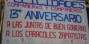CARACOL MORELIA - 13 AÑOS JBG ZAPATISTAS - RZ