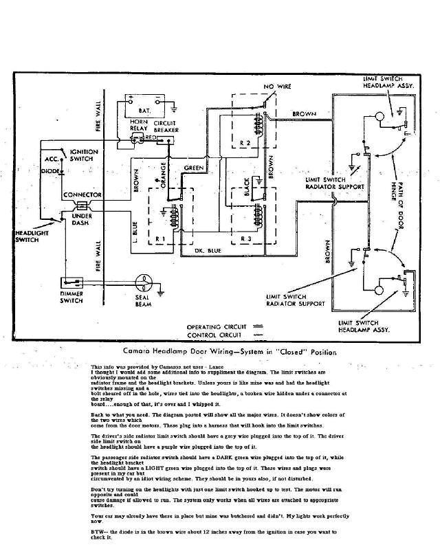 1967 camaro rs headlight wiring diagram  wiring diagrams