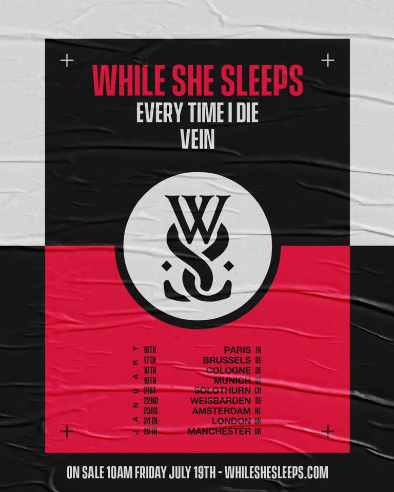While She Sleeps Paris 2020