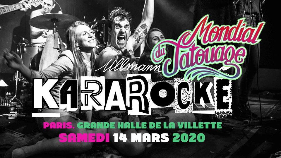 Affiche du Karaoké Ullmann au Mondial du Tatouage 2020