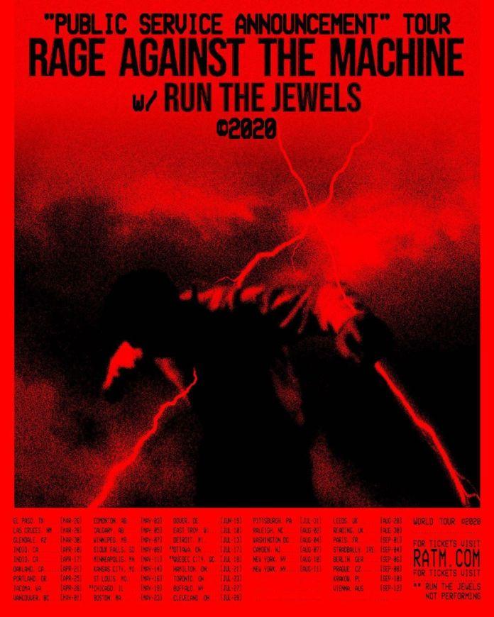 Affiche de la tournée 2020 de Rage Against the Machine