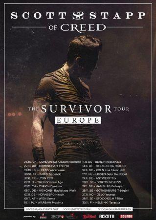 Affiche du retour de Scott Stapp en Europe