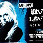 Affiche concert Avril Lavigne à Paris