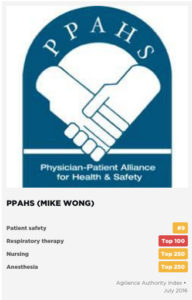 PPAHS Ranked #9 as Patient Safety Authority