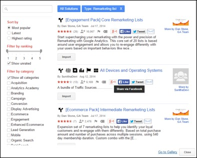 Review your remarketing lists