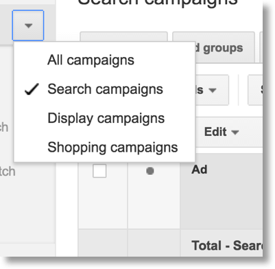 Download all Search campaigns