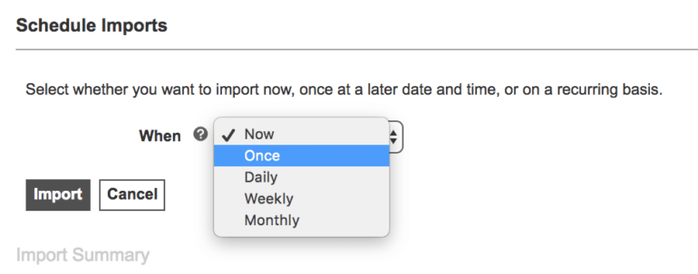 Automated Import Scheduling