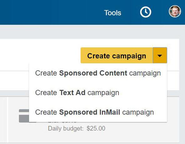 Ad unit campaign creation