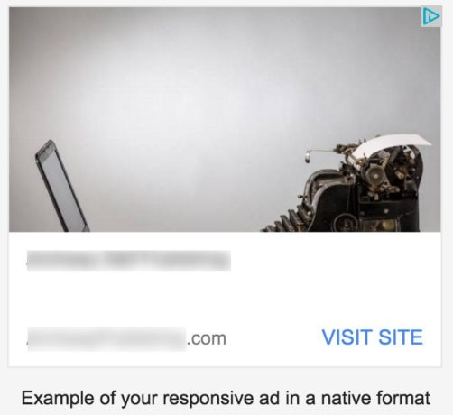 Example of a responsive ad in a native format