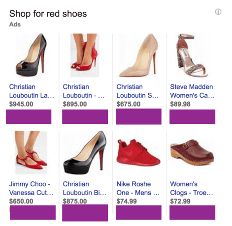 Shop for red shoes