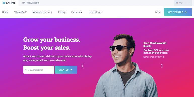 adroll homepage or login