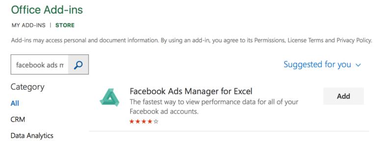 Facebook Ads Manager For Excel