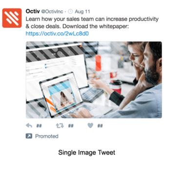 Example of a single image Tweet