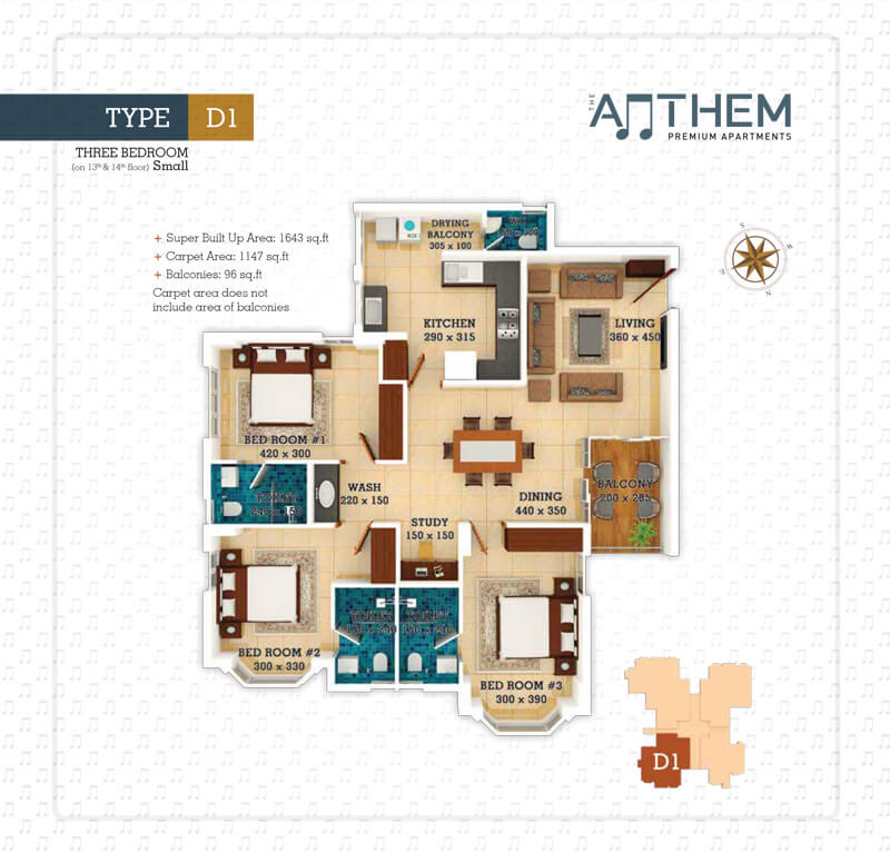 Anthem Floor plan 1 - Prime Property Developers